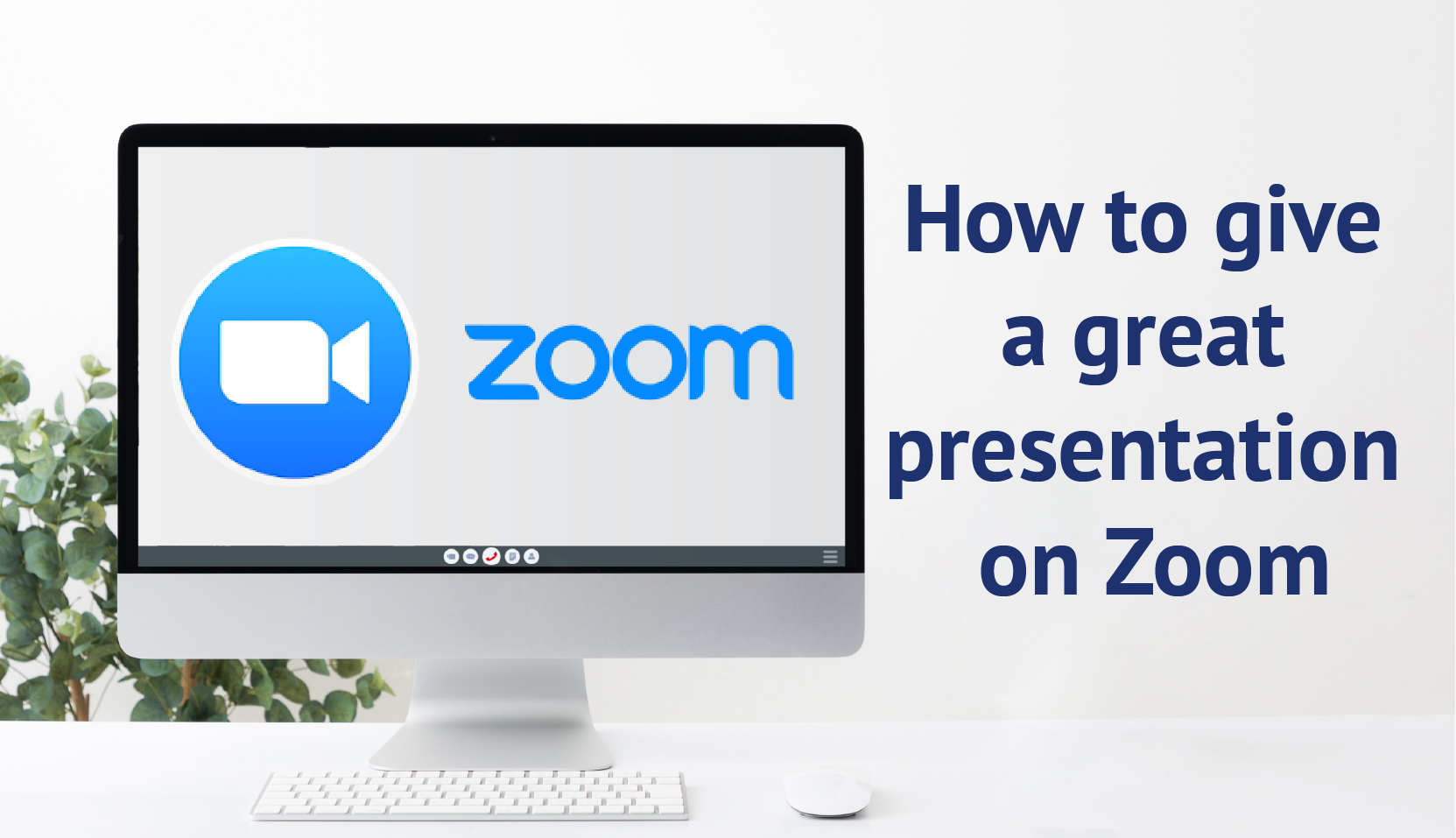 How to give a zoom presentation banner